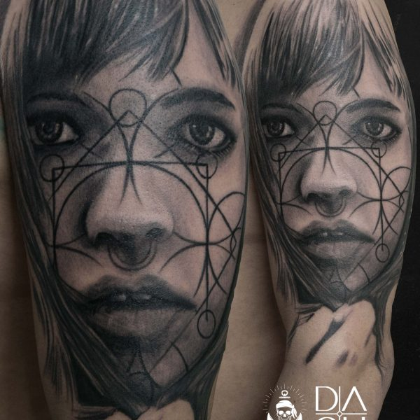 Dash Tattoo Kunst Body Art Realistic Face Danny ShoeStar
