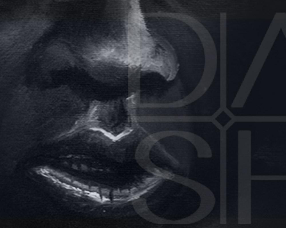 Kunst Schwarz Weiss Dash Danny ShoeStar