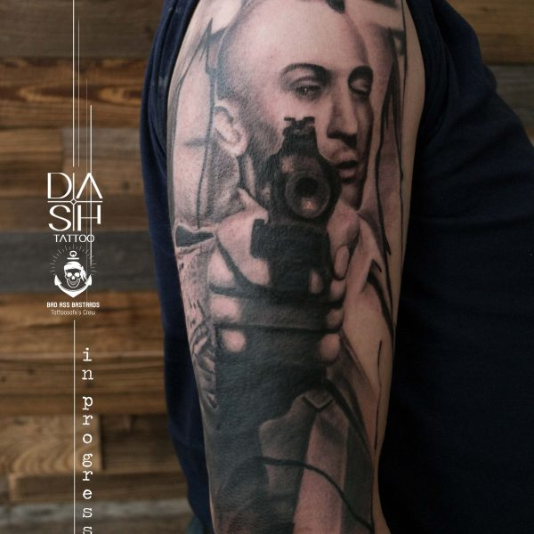 Robert DeNiro Taxi Driver Tattoo Danny ShoeStar DASH-TATTOO